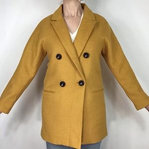 New Cotton Candy Wool Golden Yellow Suit S double